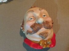 Chalkware Head Mine Host Rare 1st Version Wall Mask Hanging Bust Made in England