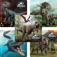 Jurassic World Stickers x 5 - Birthday Party Favours - Jurassic Park Party Ideas