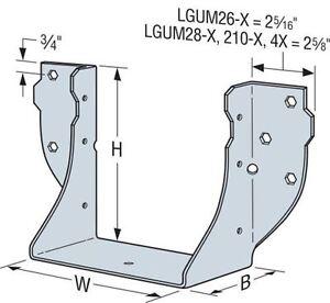 Simpson Strong-Tie LGUM28-2-SDS High-Capacity Beam/Girder Hangers for Concrete