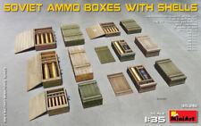 Soviet Ammo Boxes W/ Shells Plastic Kit 1:35 Model MINIART