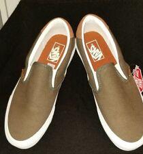 b7a82c30d4f VANS Slip on 59 Flannel Dusty Olive Men s Skate Shoes 10