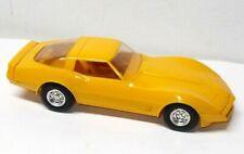 Vintage 1/25 Scale Yellow 1980 Chevrolet Corvette Promo Model Car