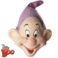 Adults Dopey Seven Dwarfs Mask Disney Snow White Fancy Dress Costume Accessory