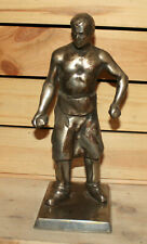 Antique hand made metal statuette man worker