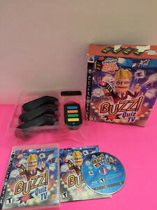 PS3 Buzz Quiz TV + 4 Wireless Buzzers & USB Dongle Receiver *Free Shipping*