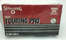 Vintage 80's Box of 15 Spalding Touring Pro Surlyn Cover 2 Piece Golf Balls Nib