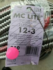 AFC MC CABLES Armored Cbl,3 w/Grd,12AWG,MC Lite,250ft, 2159S42-00