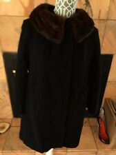 Cashmere And Mink Collar Coat Size M/S