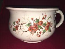 Vintage Decorative Porcelain Chamber Pot Floral Designs