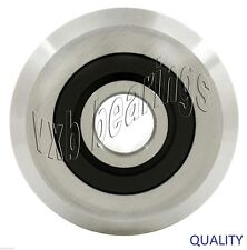 "Quality RM2-2RS 3/8"" V Groove Roller Bearing Rubber Sealed Line Track (8PCS)"