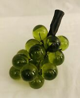 Vintage Mid Century Large Green Lucite Acrylic Green Grapes Cluster Home Decor