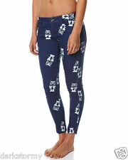 "BNWT ELEMENT LADIES ""ITS A HOOT"" STRETCH SKINNY OWL PRINT JEANS (10) RRP $99.99"