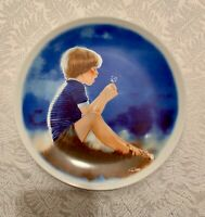 Erik & Dandelion Viletta Donald Zolan Children Collectible Plate Signed 1978 COA