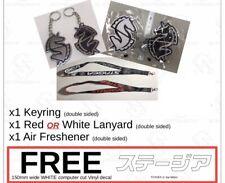 Nissan Stagea C34, Unicorn Keyring, Lanyard, Air Freshener Combo, Free Sticker