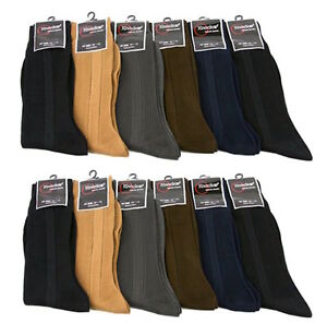 3 6 12 Mens Dress Black Color Casual Fashion Crew Lot Dozen Socks Knocker 9-11