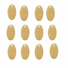 Rockin Beads 280 Brass Plated Alloy Metal Stamping Blanks Oval Drop 13x7mm