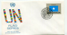 United Nations #411 20c Flag Series, Somalia, Official Geneva Cachet, Fdc