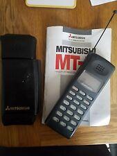 Vintage Mitsubishi Mobile Phone Cellular Telephone MT-5 MT5 Manual Leather Case