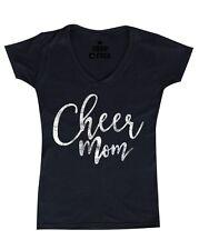 Cheer Mom Women's V-Neck T-shirt Mother's Day Gift birthday Cheerleading Tee