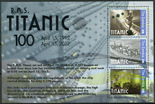 Gambia 2012 MNH RMS Titanic 100th Anniv 3v M/S Ships Boats Nautical Stamps