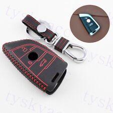 Leather Key Case Holder Bag Keyfob Cover Accessory For BMW X1 X5 X6 F15 F16 F48