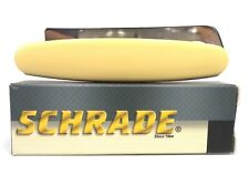 SCHRADE  BLADE POCKET KNIFE YELLOW HANDLE 1 BLADE WITH HOOF PICK 275HP