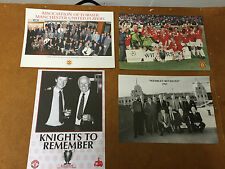 4 MANCHESTER UNITED ASSOCIATION OF FORMER PLAYERS INSERTS 68 99 CHAMPIONS LEAGUE