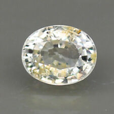 1.14ct.CEYLON SAPPHIRE UNHEATED SILVER YELLOW OVAL SHAPE NATURAL GEMSTONE RARE