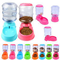 3.5L Automatic Pet Food Drink Dispenser Dog Cat Feeder Water Bowl Dish Useful