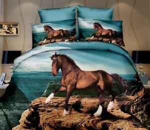 NEW HORSES PATTERN  PILLOWCASE 50 cm / 75 cm