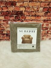 SUREFIT CHAIR SLIPCOVER SOFT SUEDE SABLE RELAXED FIT
