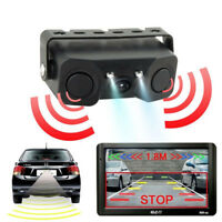 Car Visual Reversing Radar Rear View Camera Backup With 3 in 1 Parking Sensor