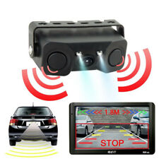 3 in 1 120° Car Visual Reversing Rear View Camera Backup Parking Sensor Buzzer