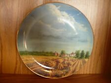 'Distant Storm' by Lowell Davis Danbury Mint 1992 American Farm Collection Plate