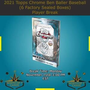 Jarred Kelenic 2021 Topps Chrome Ben Baller Baseball 6X Boxes (Break #1)