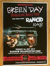 Green Day + RANCID + Slaves CONCERT POSTER - July 2017 UK tour poster