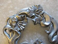 Seagull Pewter, Canada / Art Nouveau Inspired Pewter Artisan Circle Pin Brooch