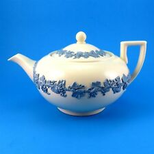 Wedgwood Embossed Queen's Ware Large Teapot