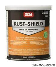 SEM 28104 Rust Shield Black 1 Quart Corrosion Control Coating