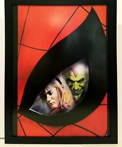 Marvels Spider-Man Green Goblin by Alex Ross 9x12 FRAMED Marvel Art Print Poster