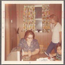 Vintage Snapshot Photo Candid Vernacular TV Home Interior 691460