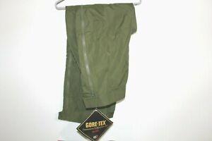 Gore Tex Pants R&R Uniforms Green Small Long Zip Off Hunting Camping