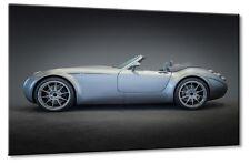 Leinwand Bild Wiesmann mf5 Cabrio Supersportwagen Blau Design Kunst Wandbild