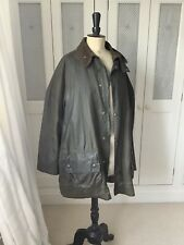 Barbour Gamefair Olive Wax Jacket Size 44 With Detachable Fur Lining