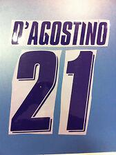 fiorentina kit D'AGOSTINO viola plastica Nameset maglia calcio lotto