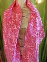 soie ,rose    long  tres beau ,foulard ,écharpe ,femme 1m,80 long x0,45