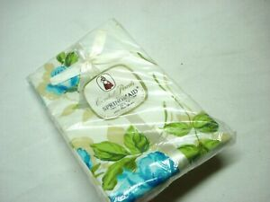NEW SEALED VINTAGE PACK OF COMBED PERCALE BY SPRINGMAIDE BLUE FLORAL PILLOW CASE