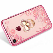 US Shockproof Bumper Silicone TPU Bling Clear Cover Case For iPhone X 8 7 6 Plus
