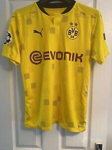 Match Worn borussia dortmund Champions League Shirt DELANEY 20/21