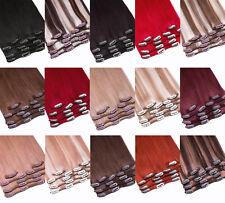 Clip In Extensions Set Remy Echthaar 35cm- 80cm Haarverlängerung 7 Tressen hair
